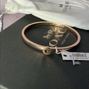 Coach rose gold bangle bracelet NWT